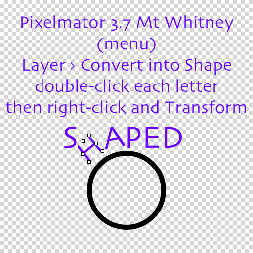How To Curve Text Around A Shape Pixelmator Community