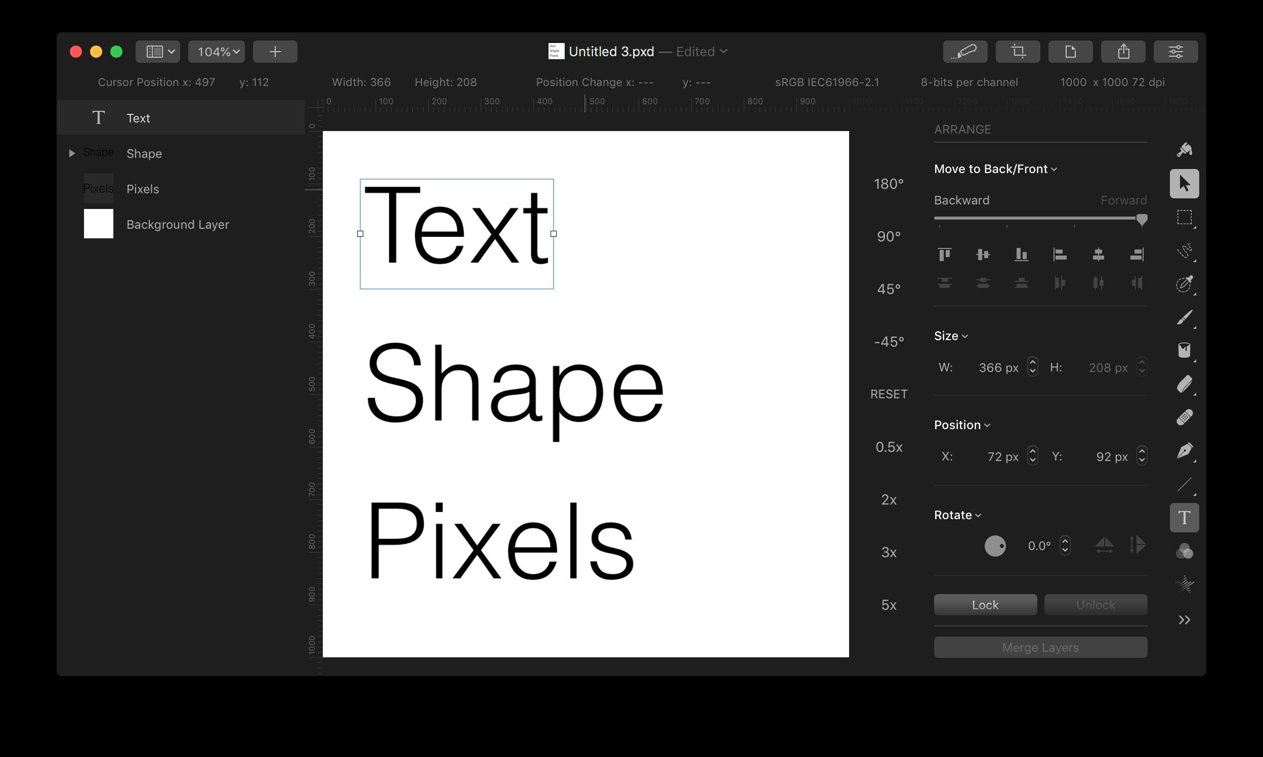 Editing Text Pixelmator Community